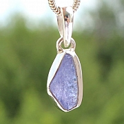 Tanzanite Pendant Stone Sterling Silver 925 15x7mm