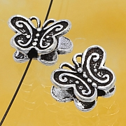 Silver Beads Butterfly Sterlingsilver 925 13x9mm