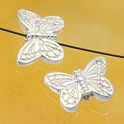 Silver Beads Butterfly Sterlingsilver 925 11x7mm