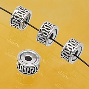 Silberperlenräder Sterlingsilber 7x3mm