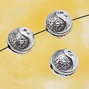 Silver Beads Yin Yang Sterlingsilver 925 10mm