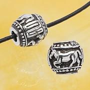 Silberperle - Das Jahr des Pferdes - Sterlingsilber 925 10mm