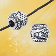 Silver Bead - Year Of The Dog - Sterlingsilver 925 10mm