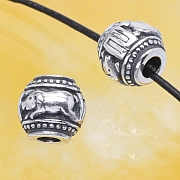 Silver BeadsThe Year Of The Pig Sterlingsilver 925 10mm