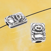 Silver Beads Chinese Monk Sterlingsilver 925 10x7mm
