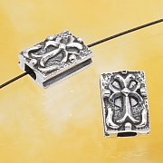 Silber Perle Mittelalter Kreuz Silber 925 10x7mm