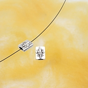Silberperle Schwert Lilie Silber 925 10x7mm