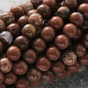 Offer 7 strands of 40cm red jasper pearls