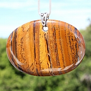 Tiger Eye Oval Pendantabout 70*50mm