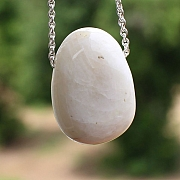 Moonstone white Stone Pendant 25x20mm