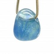 Fluorit Blue Stone Anhänger MINI 18x13mm