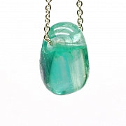 Fluorit Green Stone Pendant MINI 18x13mm