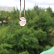 Rosequarz Anhänger Steinanhänger 18mm