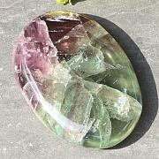 Fluorit Regenbogen Seifenstein 45x30mm