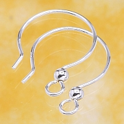 Ear Hook Circle Sterlingsilver 925 16mm Ø