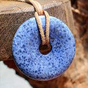 Dumortierite Donut Stone Pendant light 50mm