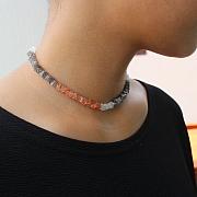 Edelstein Mehrfarbige Halsketten Square 45 cm.