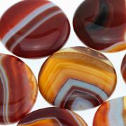 Seifenstein Karneol - Achat gebändert Karneolachat rot flacher Stein AA+ Qualität