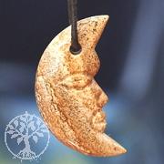Landschafts-Jaspis Mond Anhänger