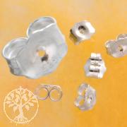Earring Backs Sterlingsilver Butterflies for Earstuds 7x6mm