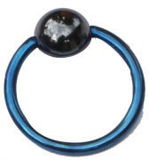 Ball Closure Ring Standard 1.2mm Piercing Ring dark blue