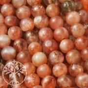Sonnenstein Perlen ca. 8mm/40cm AA