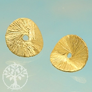 Spacer Wave Gold Round Bead 8mm