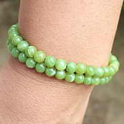 Korea Stein Armband Runde Perlen 6 mm