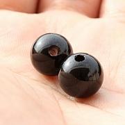 Turmalin schwarz Kugelanhänger 10 mm