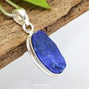 Lapis Lazuli Oval Pendant Stone Sterlingsilver 925  25x16mm.