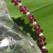 Granat Edelstein Linsen Silber Armband