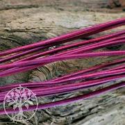 Lederband Ziege rund 1,5mm in violett