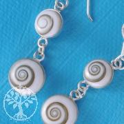 Shiva-Muschel Ohrringe SHOH2 925 Silber Shivas Auge