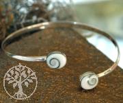 Silver bracelet with shiva Shell SHARM2
