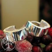 Silver hoops SICRG5