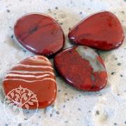 Roter Jaspis Seifensteine 5 Stück