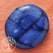 Blauquarz Seifenstein flacher Blauquarz Stein A