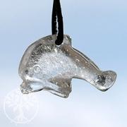 Delfin aus Bergkristall klein
