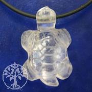 Bergkristall  Schildkröten-Anhänger