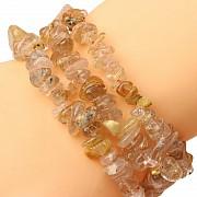 Rutilquarz Armband Splitterarmband kleine Perlen