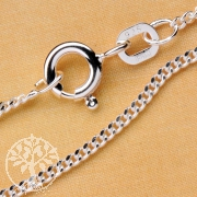 Curb Silver Chain 60 cm 1.4mm Sterlingsilver