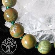 Rhyolite bead necklace 45cm/8mm