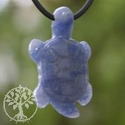 Blauquarz Schildkröten-Anhänger