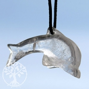 Bergkristall Delfin gross