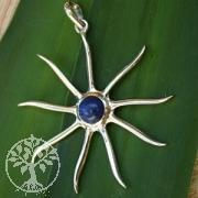 Silber 925 Anhaenger Sonne mit Lapislazuli 1