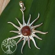 Sonnenstein-Silber-Anhaenger Sonne klein