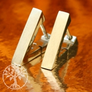 Triangle Stainless Steel Hoop Earrings brushed