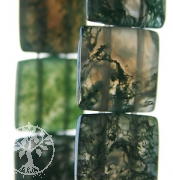 Moss Agate Bracelet Squared