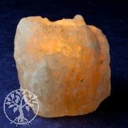 Salzkristall-Teelicht