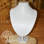 Bust for necklace big white